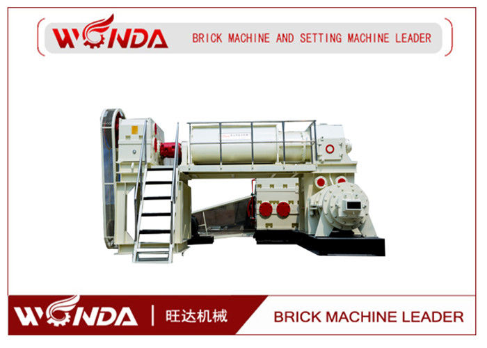 Red Clay Automatic Brick Making Machine , Double Stage Vacuum Brick Extruder
