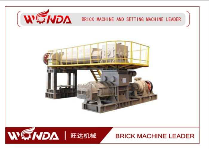 High Manganese Steel Red Clay Bricks Manufacturing Machine?With Double Shaft Mixer
